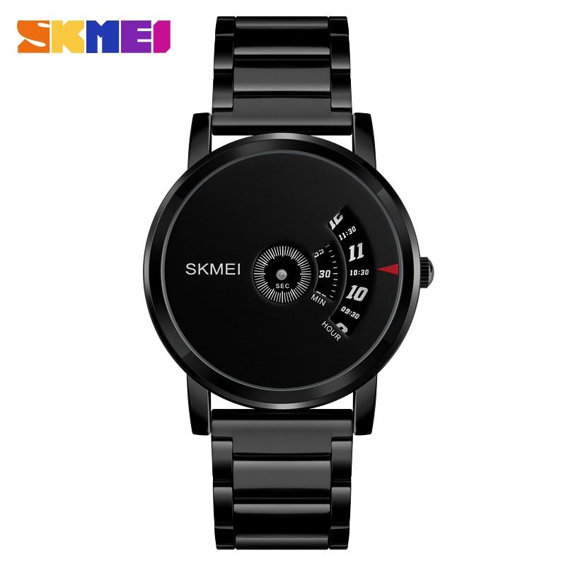 SKMEI Men's Quartz Watch Waterproof Full Steel Fashion Watches Top Luxury Brand Wristwatches Male Clock Relogio Masculino 1260