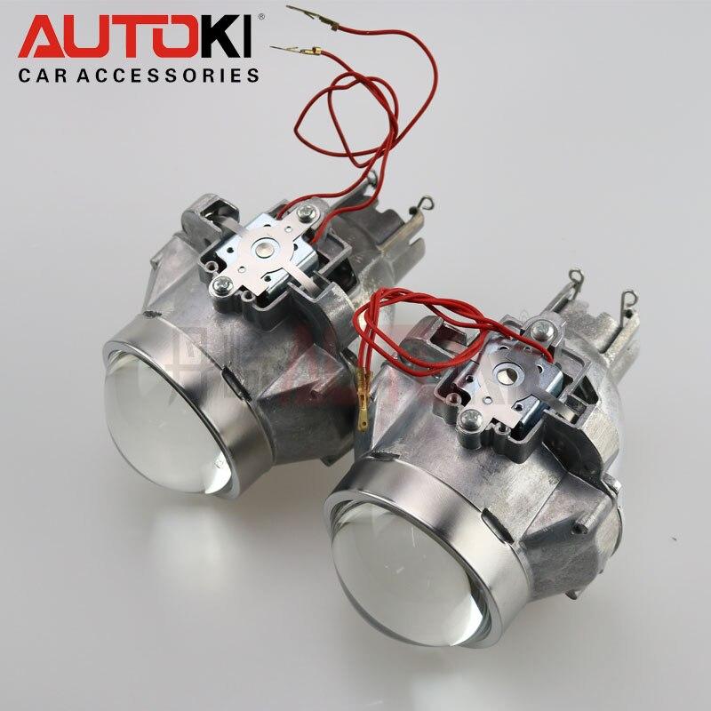 Livraison gratuite Autoki Stanley FXR HID projecteur bi-xénon D2S D2H phare bricolage rénovation bixenon lentille