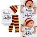3 Pcs Baby Clothing set summer baby Romper + trousers + hat short sleeve suit  baby boys girls clothes newborn 3pcs set     ST42