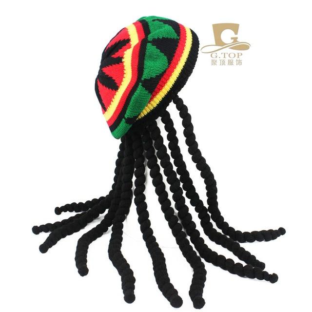 Fiesta de disfraces disfraz Hippie boina Dreadlocks peluca jamaicano ...