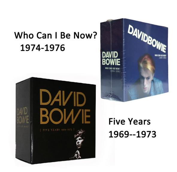 David Bowie Five Years1969--1973 + Who Can I Be Now(1974 To 1976) Total 24 CD Music Cd Box set free shipping