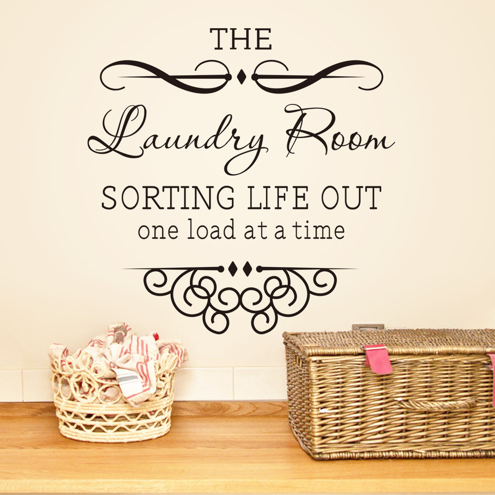 hot quotes label laundry bathroom wall decoration bedroom decoration tattoo art diy home decor wallpaper mural - Home Decor Quotes