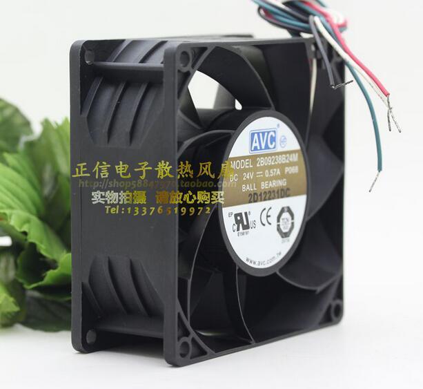 AVC 9CM 9238 DC 24V 0.57A 2B09238B24M P068 92*92*38mm 4-lines heatsink cooling fan