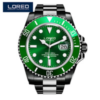 LOREO Mechanical Watches Men Skeleton Gold Watch Automatic Mechanical Mens Watches Waterproof Uhre Clock Stainless Steel