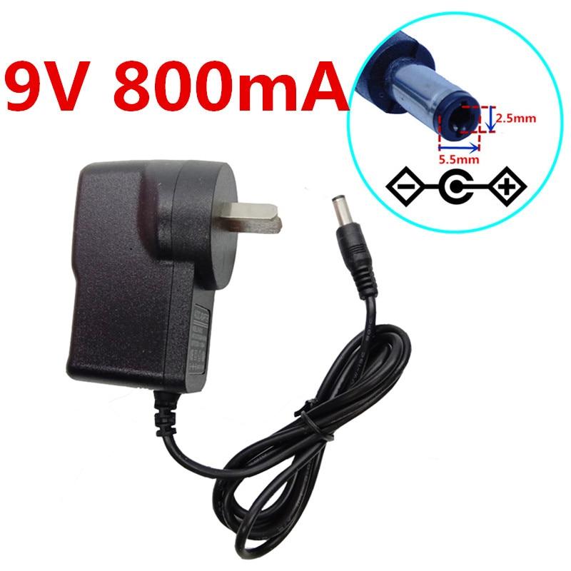 universal dc power for dc 9v 800ma switching power supply ac converter adapter eu us uk au plug. Black Bedroom Furniture Sets. Home Design Ideas