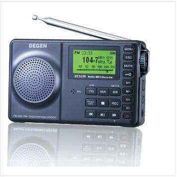 DEGEN DE1129 DE-1129 FM-Stereo/AM/SW DSP ATS 4GB MP3 Player Digital Recorder Portable Intelligent Multifunctional LED Radio