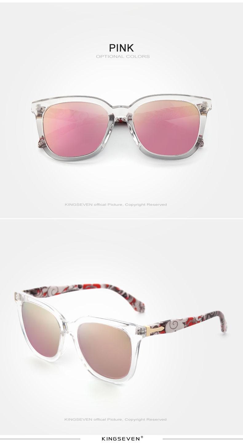 KINGSEVEN Vintage Style Sunglasses Women Brand Designer Shades Polarized Lens Sun Glasses Fashion Sunglasses Oculos De N7810 8