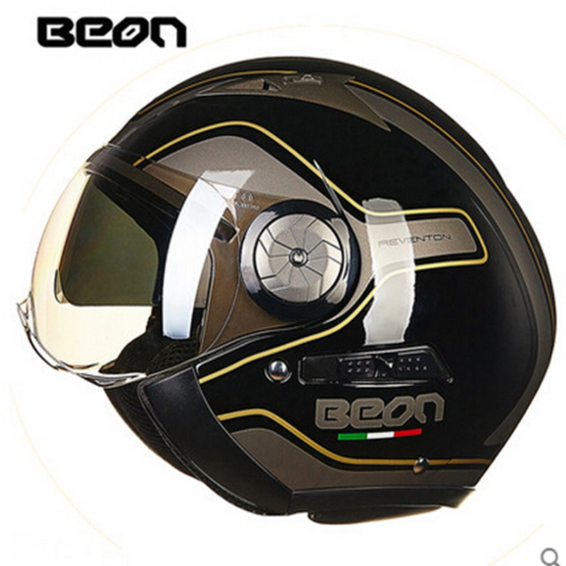 BEON motorcycle Vintage helmet font b motorbike b font motorcross helmet Capacete Casco open face 3