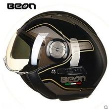 BEON motorcycle Vintage helmet  motorbike motorcross helmet Capacete Casco open face 3/4 jet retro BRAND helmet Protective Gear
