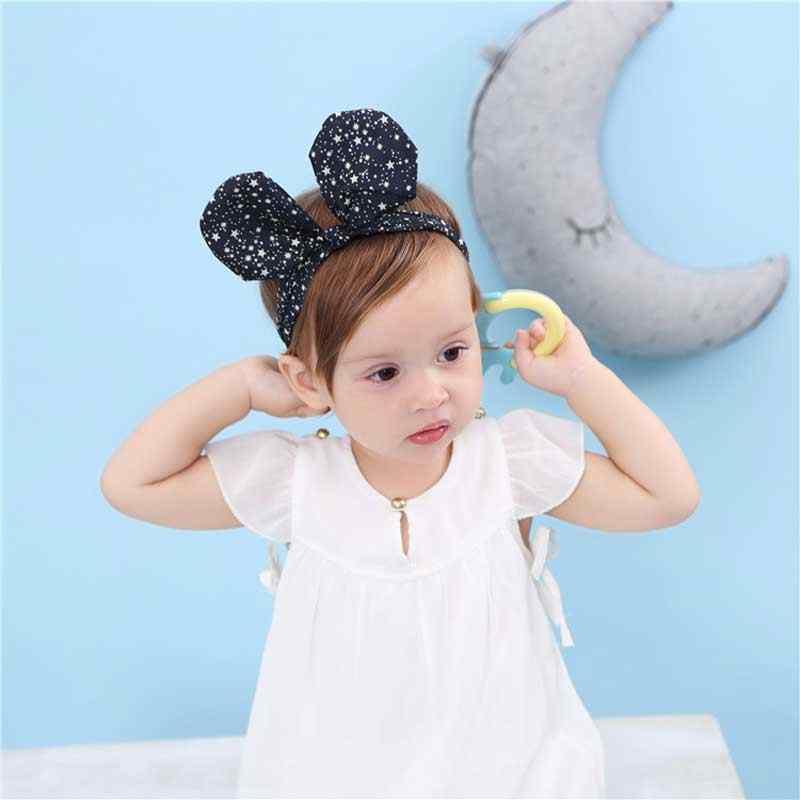 1 шт. уши Микки Детская повязка на голову головной убор ручной работы фото реквизит цветок повязка для волос ребенок Новорожденные волосы для куклы повязка на голову