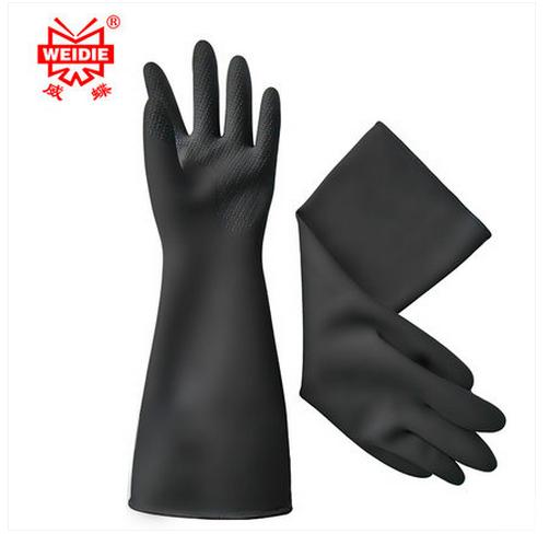 31CM white/Black gloves latex working Midoni waterproof non-slip arbeitshandschuhe upset longer latex work gloves Free Shipping mool 300pcs nail art latex rubber finger cots protector gloves white