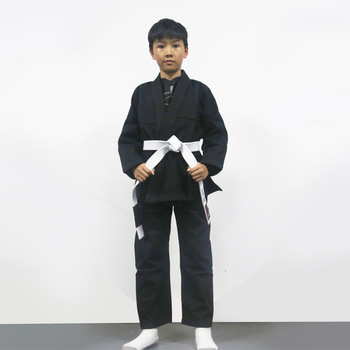 Chico está en blanco bjj gi niños brasileño jiu-jitsu gi formación kimonos bjj