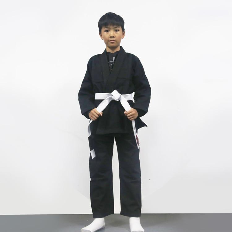 kid's blank bjj gi children's brizilian jiu-jitsu gi training bjj kimonos цена