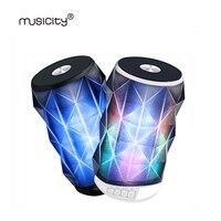Musicity Falantes Blutooth Sem Fio Mini Speaker Portátil Bluetooth com Microfone TF SD USB AUX Porto Baixo do DIODO EMISSOR de Luz 5 W 10 PCS