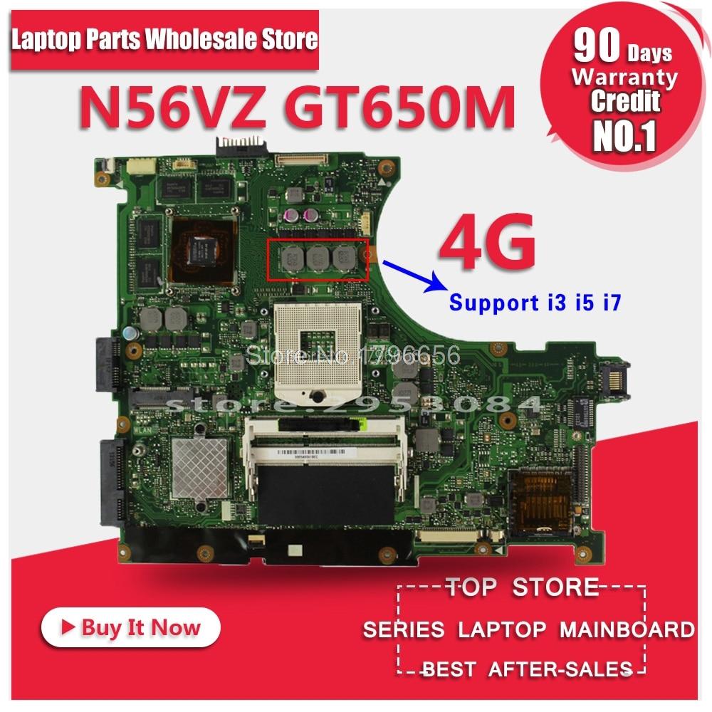 New!!USB board+N56VZ motherboard GT650M/4GB N56VM REV 2.3 Mainboard for Asus N56V N56VJ N56VV N56VB N56VM laptop motherboard sheli n56vm motherboard for asus n56v n56vm n56vz n56vj laptop motherboard gt650m original tested mainboard n56vz