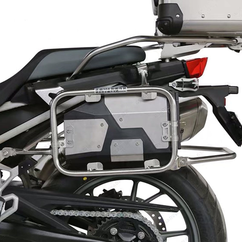 Plastic + stainless steel 5 liters side Box Bracket Capacity of Box Toolbox Suitable for BMW F750GS F850GS 2018-2019 corta cinturon de seguridad
