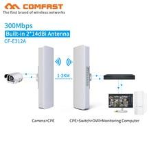 COMFASTระยะไกล 3 5 กมHigh Power Wireless Bridge CPE 2.4Gและ 5.8G 300Mbps WIFIสัญญาณBooster Amplifier Repeater Apเราเตอร์