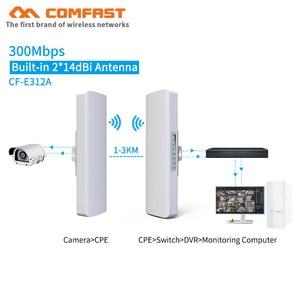 Image 1 - Comfast cf 3 5 キロ長距離ハイパワー無線ブリッジcpe 2.4 グラム & 5.8 グラム 300 150mbpsの無線lan信号ブースター増幅中継apルータ