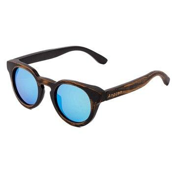 Bamboo men polarized wood frame sunglasses