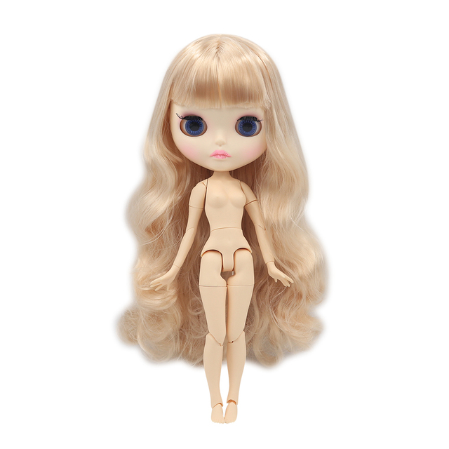 Blyth Doll 1/6 Joint Body New matte face white skin Cute pink long hair DIY BJD toys Fashion gift Special Offer with hand set AB