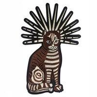 1 шт. нашивки с вышивкой в виде больших котов и животных, с утюгом для пришивания одежды, аппликация «сделай сам», стикеры, вечерние пуховики ...