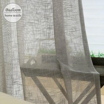 727bb38e5 Cortina de tul de color sólido cortinas blancas transparentes para la vida  romm moda tul cortinas balcón ventana gasa cortina