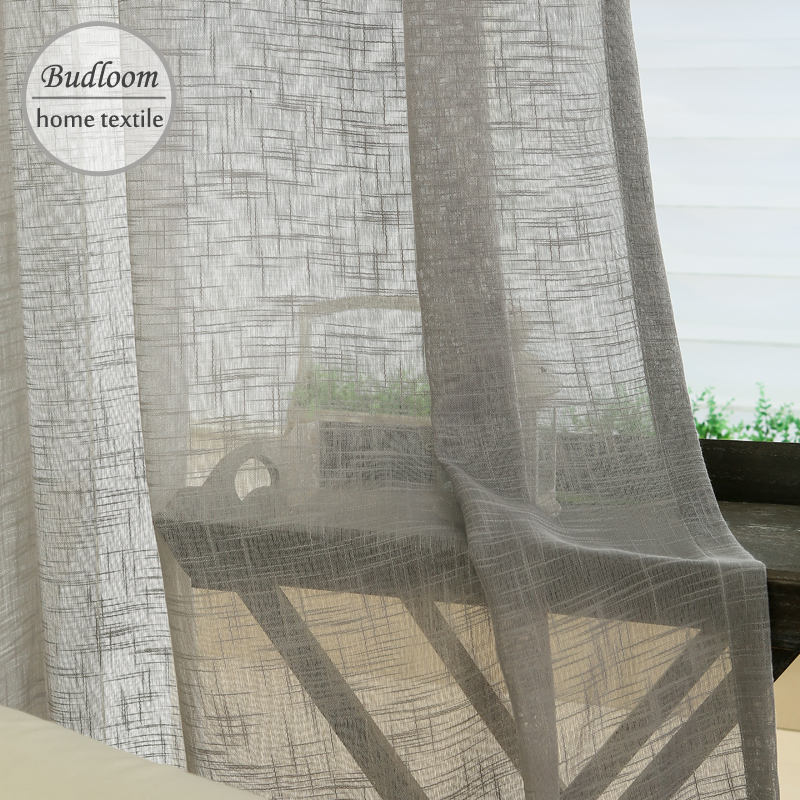 Curtain For Balcony: Solid Color Tulle Curtain Screens White Sheer Curtains For