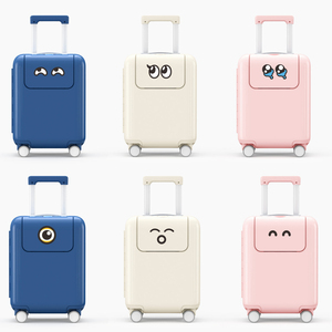 Image 3 - Xiaomi Mitu Suitcase Kids Travel Luggage Suitcase 17Inch Trolley Wheeled Suitcase With Cartoon Sticker For Girls Boys Traveling