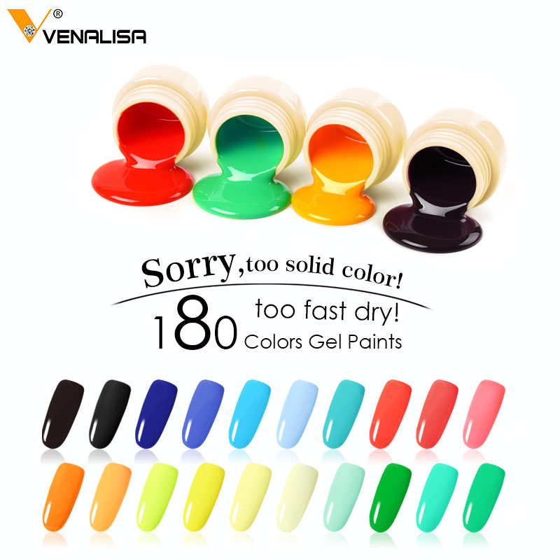 180 Väri Venalisa Professional Nail Art Design 5ml UV-LED-liuos - Kynsitaide - Valokuva 3
