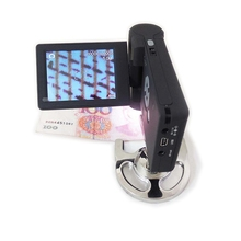 Wholesale prices 10-300X Portable LCD Digital USB Video Microscope Low Vision Aids Electronic Magnifier with 8 LED Mount Holder Stand