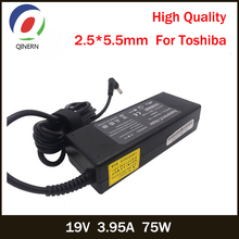 QINERN 19V 3 95A 75W 5 5*2 5mm AC Laptop Adapter uniwersalne zasilacze Notebook ładowarka Adapter dla Toshiba A100-S2211TD tanie tanio 19 v SAA127-5525 Other