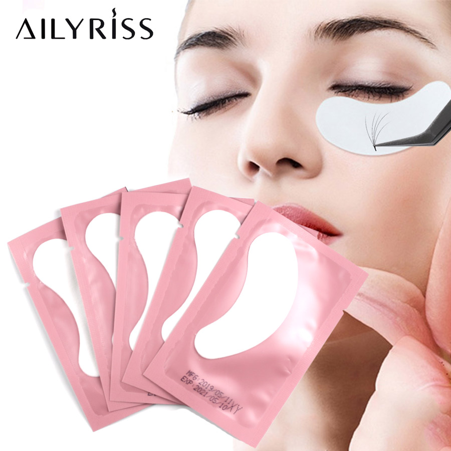 Eye Patches For Eyelash Extension 20/50/100 Pairs Eye Stickers Eyelash Under Pads Non-woven Makeup Eyelashes Building Lashes