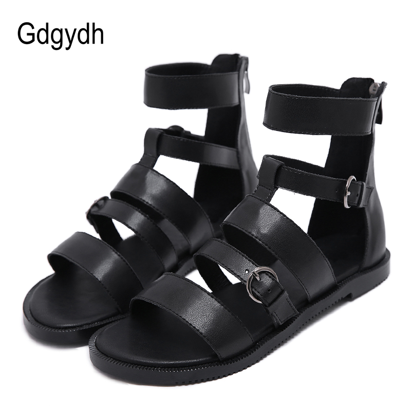 Gdgydh Drop Shipping Women Sandals Flat Heel Gladiator Sandals Fashion Buckle Beach Shoes Women Ankle Strap 2019 New Summer ShoeGdgydh Drop Shipping Women Sandals Flat Heel Gladiator Sandals Fashion Buckle Beach Shoes Women Ankle Strap 2019 New Summer Shoe