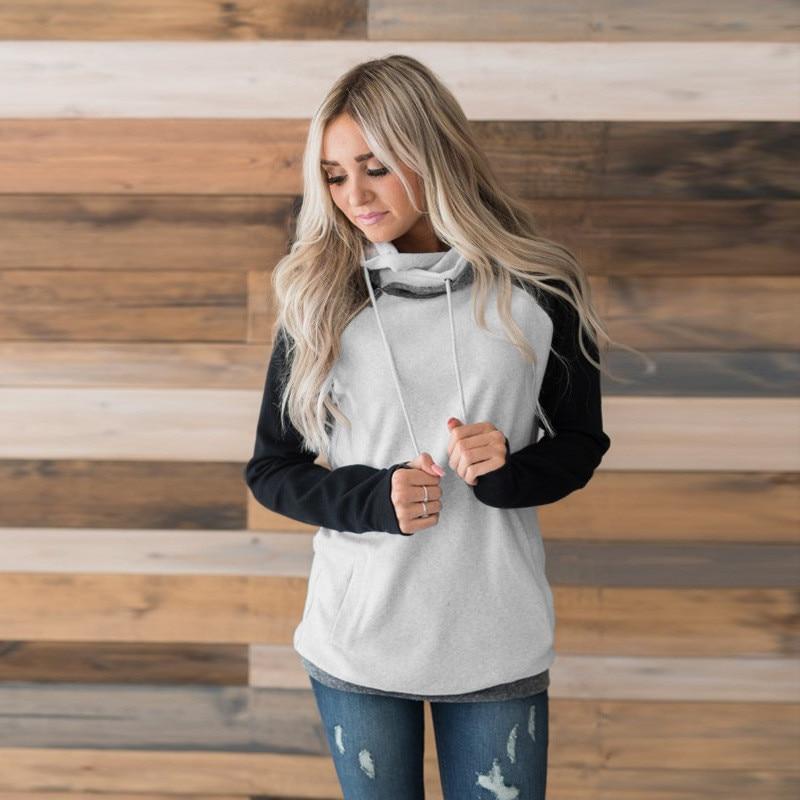 elsvios 2017 double hood hoodies sweatshirt women autumn long sleeve side zipper hooded casual patchwork hoodies pullover femme ELSVIOS 2017  hoodies, Autumn Long Sleeve HTB1Y9CIeMAq0eJjSZFtq6A