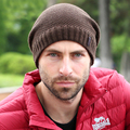 Casual Man's Winter  Warm Thick Knitted Wool Hat Warm Men Skullies Slouch Plicate Yarn Knitted Gorro Male Beanies Hats