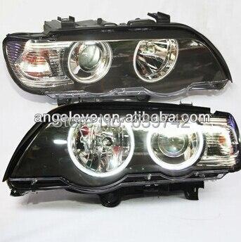 Для BMW X5 E53 светодио дный Ангельские глазки фара 1999 2003 год