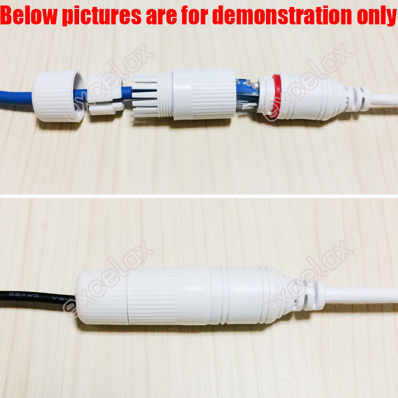 RJ45 Waterproof connector cap cover for outdoor network camera pigtail cablWTUS