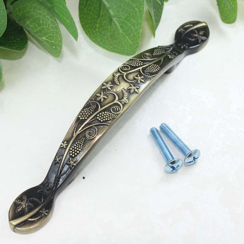 76mm Bronze kitchen cabinet handle antique brass drawer dresser cupboard door pull 3 antique furniture decoration hardware knob 30mm drawer knob antique brass kitchen cabinet door handle bronze dresser cupboard shoe cabinet pull vintage furniture knob