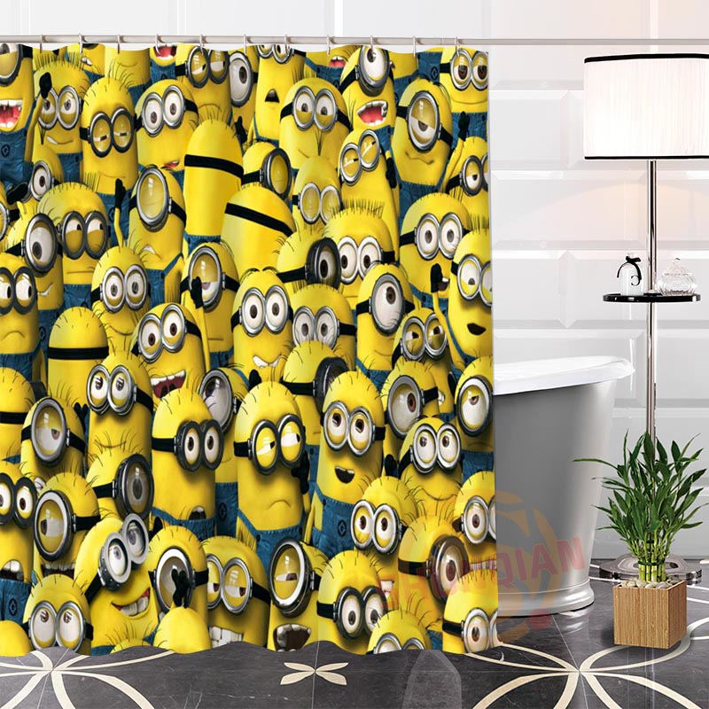 Popular Eco-friendly Custom Unique Minions Fabric Modern Shower Curtain bathroom Waterproof for yourself H0220-132
