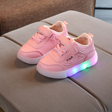 E CN luminous kids shoes girls boys  runing sport baby tennis led children sneakers shoes glowing light baby sneakers flat shoes