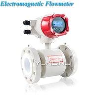 DN32 умный электромагнитный/гальванический расходомер сточных вод 220 В расходомер сточных вод грязи, химическая жидкость измерение