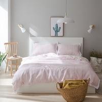 Light Pink Tencel Bamboo Fiber Duvet Cover Set For Summer Soft Duvet Cover Solid Color Bed