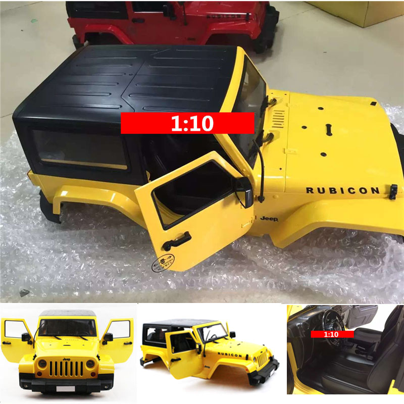 Yellow Body Shell Climbing Car Modified Car Shell For 1:10 RC Model Crawler Car ,1:10 rc car model Accessories
