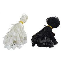 1000Pcs Clothing Hang Tag String Nylon Black With Push Locker Snap Lock Practical High Quality Quick Delivery