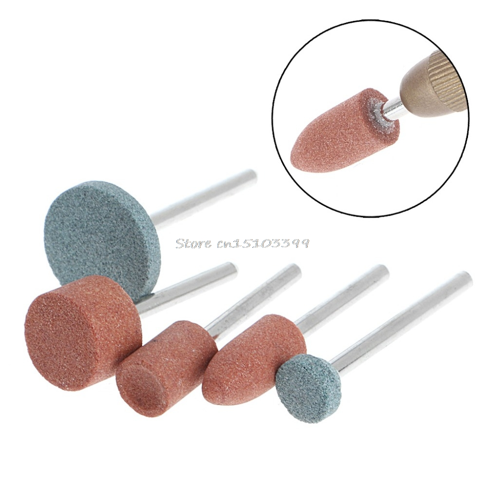 New 5Pcs 3mm Shank Wheel Head Grinding Polishing Electric Grinder Power Tool High Quality #G205M# 100 pcs 3mm shank mounted grinding cylinder point polishing tool 8mm dia tip