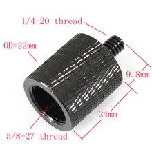 Алюминиевый сплав 5/8 до 1/4 адаптер винты держатель микрофона уровень преобразования три штатив адаптер конвертер для микрофона