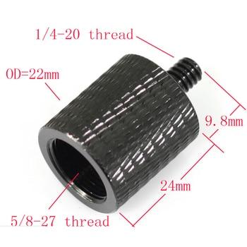 Aluminum Alloy 5/8 to 1/4 Adapter Screws Microphone Bracket Conversion Level Three Tripod Mic Converter - discount item  61% OFF Camera & Photo