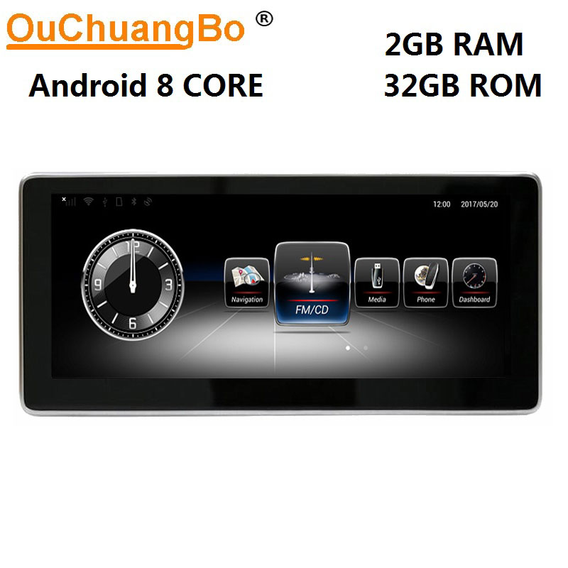 Ouchangbo 8 core Android 6.0 auto radio gps navigation for Benz GLC GLA CLS CLA A C Class 2016 2017 with 1080P video 10.25 inch