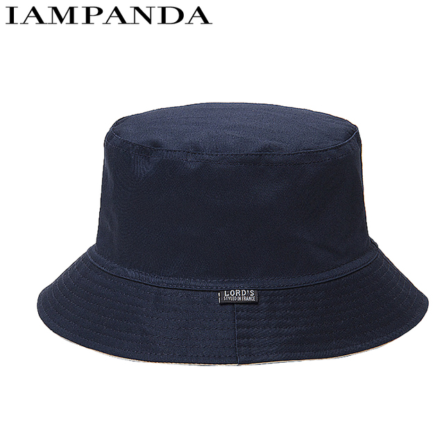 Iampanda Limited Brand 2017 New Summer Unisex Solid Fashion Bucket Hats Sad  Boy Bob Boonie Hat Mens Panama Fishing Fisherman 37725fb7b29