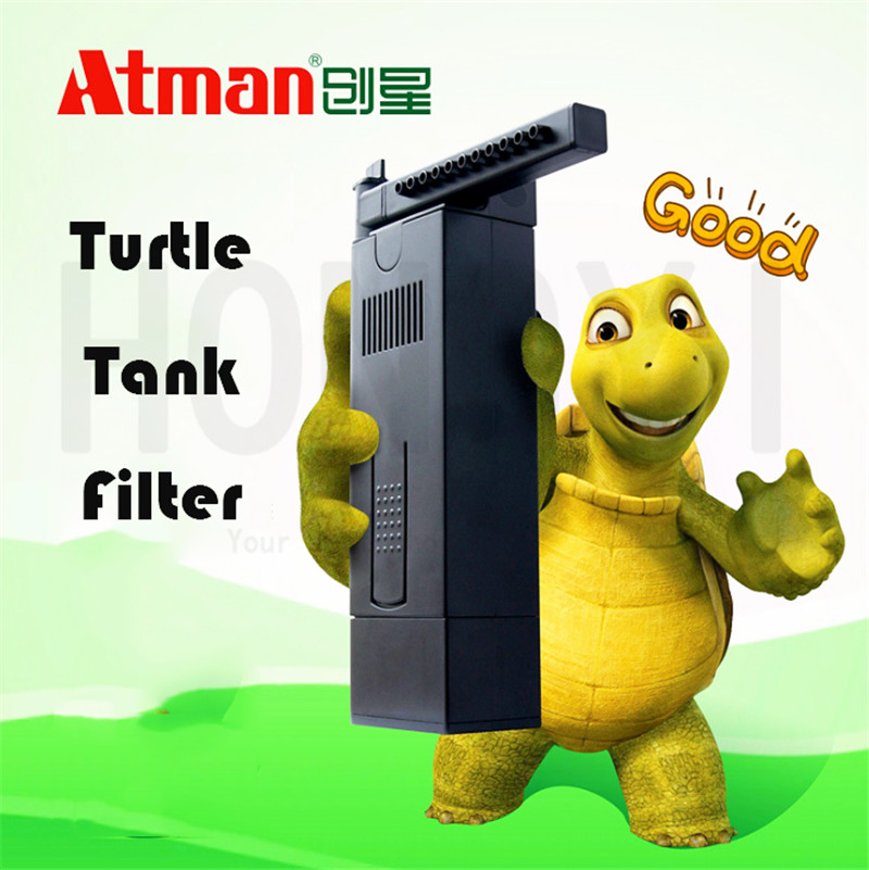 Atman UV ultra quiet rain shower tube built in filter pump equipment for turtle tank fish